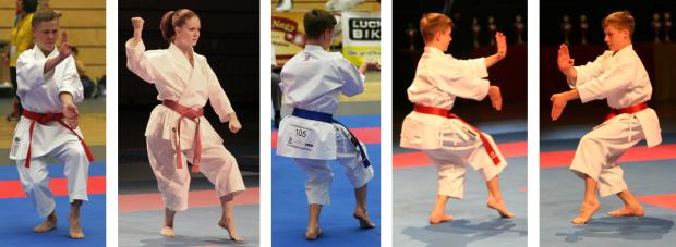 Beispiele für den Neko Ashi Dachi (zur Deutschen Meisterschaft der Jugend & Junioren 2013)